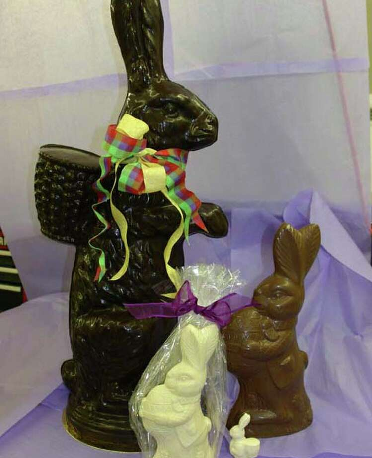 Belgique offers three-foot tall rabbits for Easter. Photo: Contributed Photo / New Canaan News