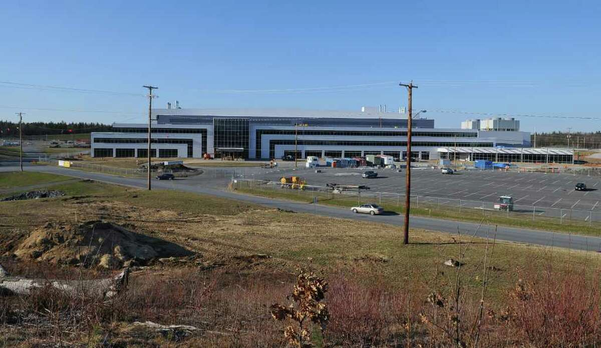 View of the front of the new GlobalFoundries chip fabrication plant under construction on Thursday April 7, 2011 in Malta, NY. (Philip Kamrass/ Times Union )
