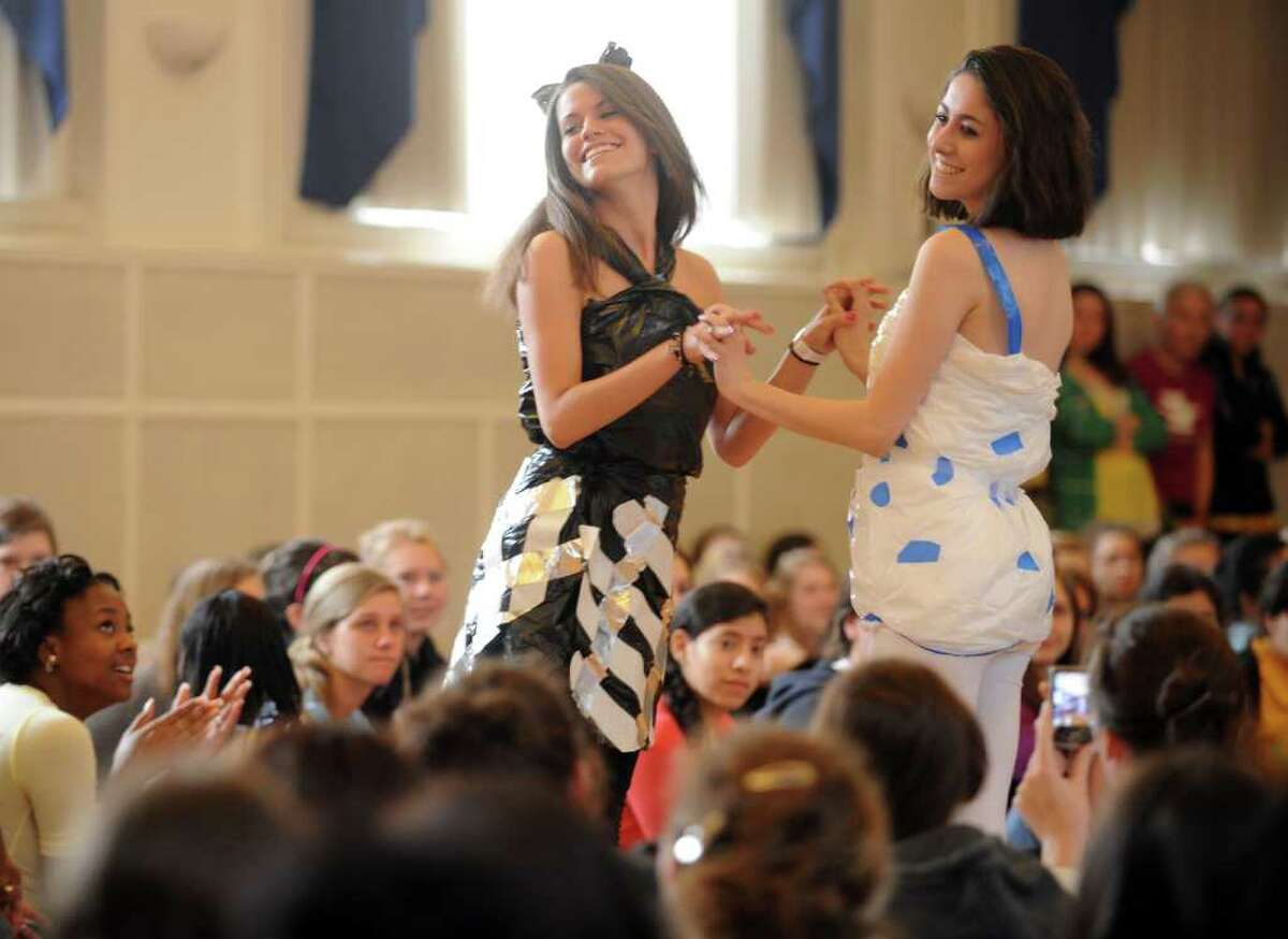 The sixth annual Earth Day fashion show at Lauralton Hall in Milford, Conn. Friday, April 15, 2011.