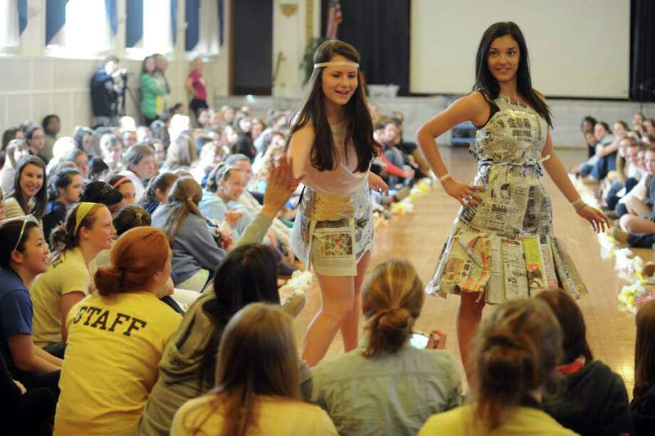 The sixth annual Earth Day fashion show at Lauralton Hall in Milford, Conn. Friday, April 15, 2011. Photo: Autumn Driscoll / Connecticut Post