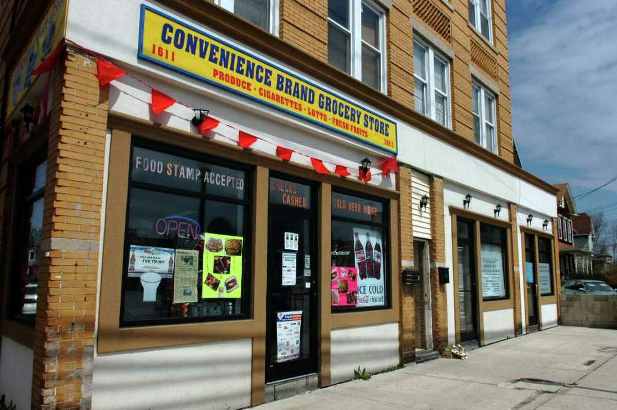 Convenience Brand Grocery Store, and Apostolic Ark Pentecostal Church Food Pantry, 1611 Stratford Ave. in Bridgeport, Conn.