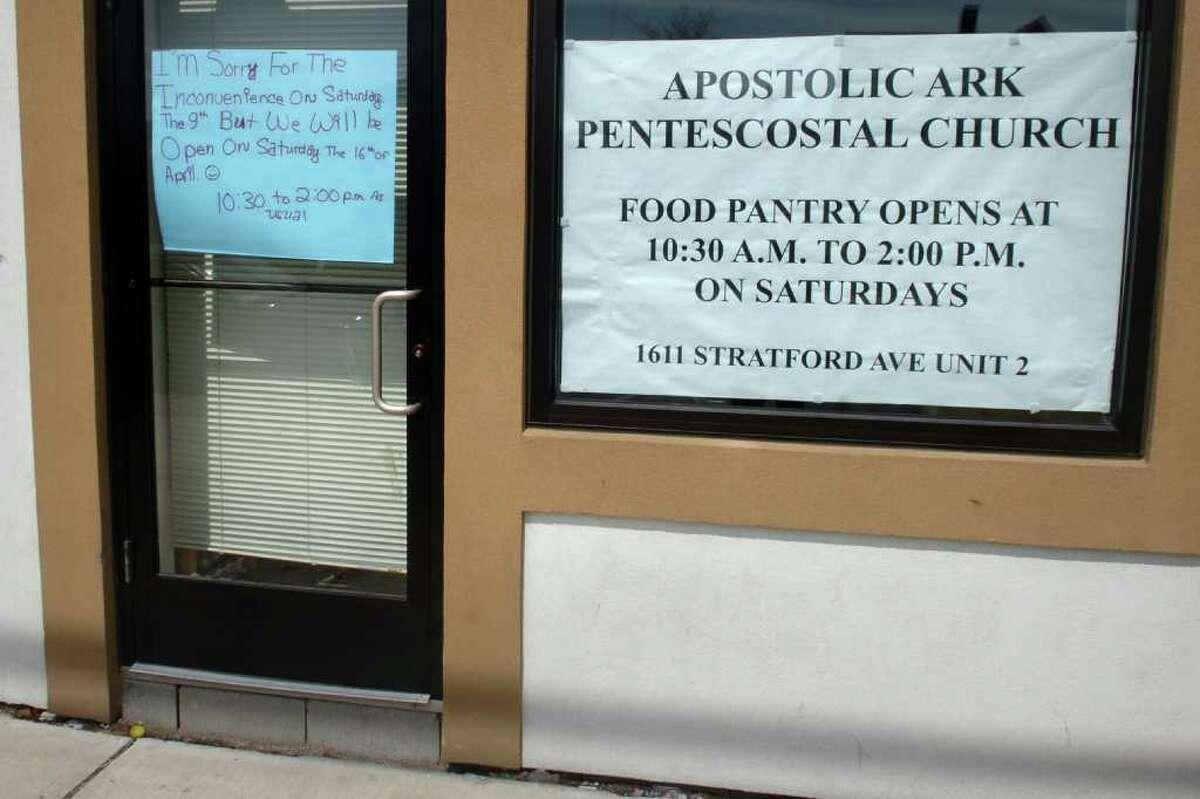 Apostolic Ark Pentecostal Church Food Pantry, 1611 Stratford Ave. in Bridgeport, Conn.