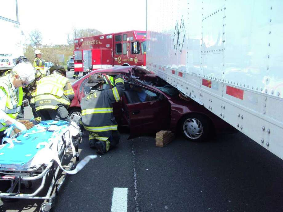 Tractor trailer drags car 200 ft during accident on I-95