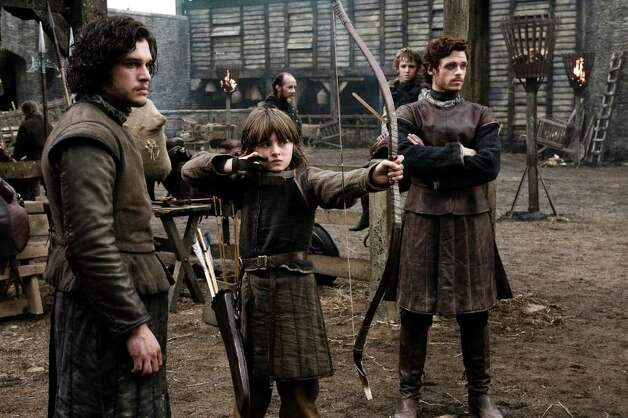 GAME OF THRONES: Kit Harington, Isaac Hempstead-Wright, Richard Madden.(photo: Helen Sloan)