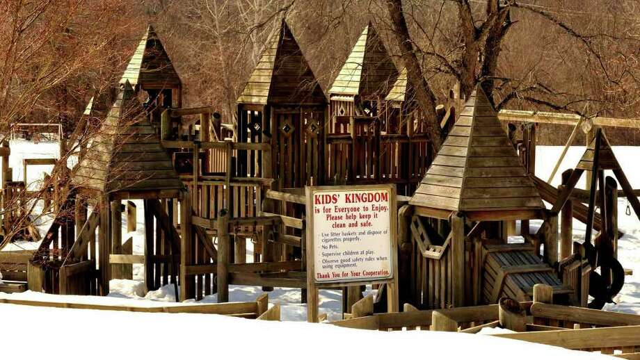 Kids' Kingdom, is a playground behind the Brookfield Town Hall. Photo: File Photo/ Micahel Duffy, File Photo / The News-Times File Photo
