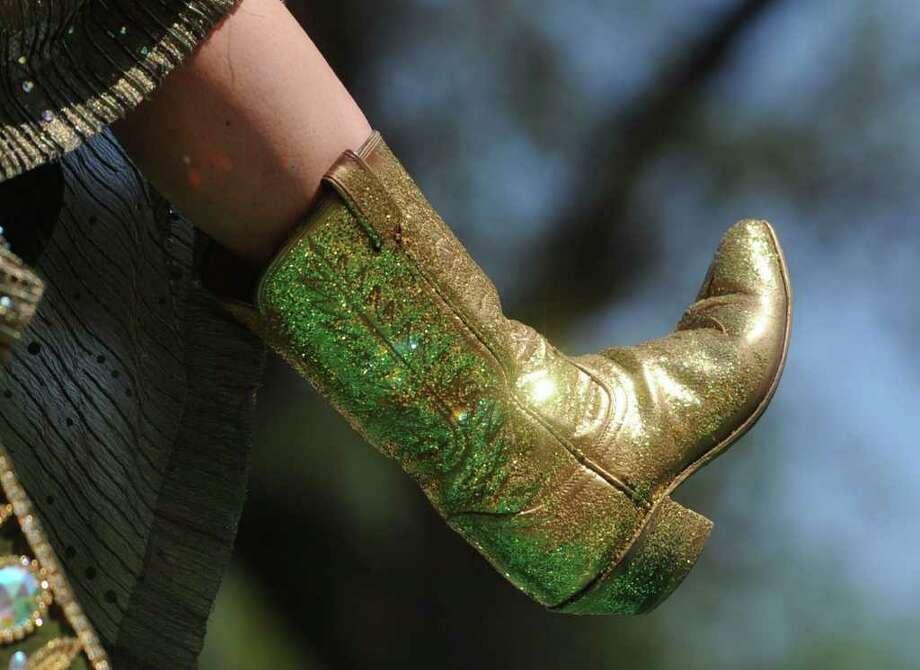 "... you yell ""Show me your shoes"" during the Fiesta parades -- Xavier Saldana Photo: BILLY CALZADA, SAN ANTONIO EXPRESS-NEWS / gcalzada@express-news.net"