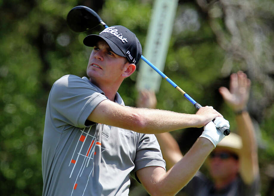 Brendan Steele shot a 4-under 68 Saturday at the Valero Texas Open, moving to 7-under 209 overall and a one-stroke lead. KIN MAN HUI/kmhui@express-news.net / San Antonio Express-News