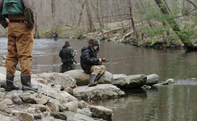 Anglers cast away on opening day connecticut post for Ct fishing season