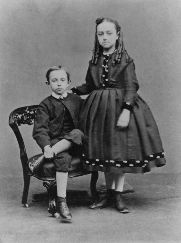 A smartly dressed boy and girl pose for a formal portrait, circa 1870. Photo: Hulton Archive, Getty Images / 2010 Getty Images