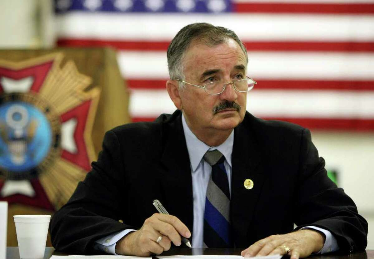 U.S. Rep. Ciro Rodriguez speaks to veterans at VFW post 4815 on Wednesday Oct. 6, 2010. HELEN L. MONTOYA/hmontoya@express-news.net
