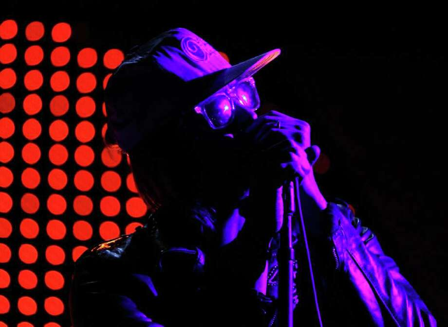The Strokes' lead singer Julian Casablancas performs during the Coachella Valley Music & Arts Festival, Sunday, April 17 2011, in Indio, Calif. Photo: AP
