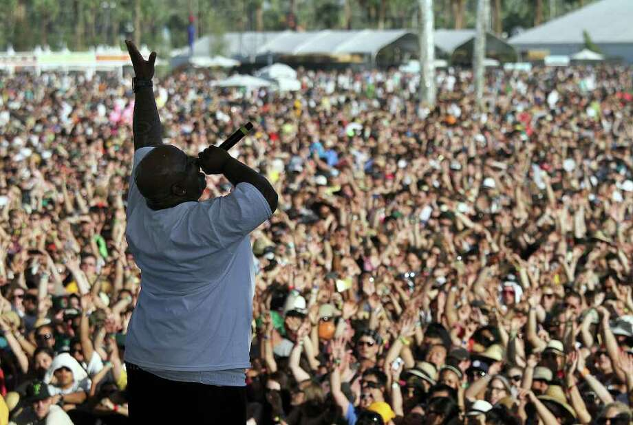 Coc Lo Green performs during 12th Coachella Valley Music and Arts Festival, Friday, April 15 2011, in Indio, Calif. Photo: AP