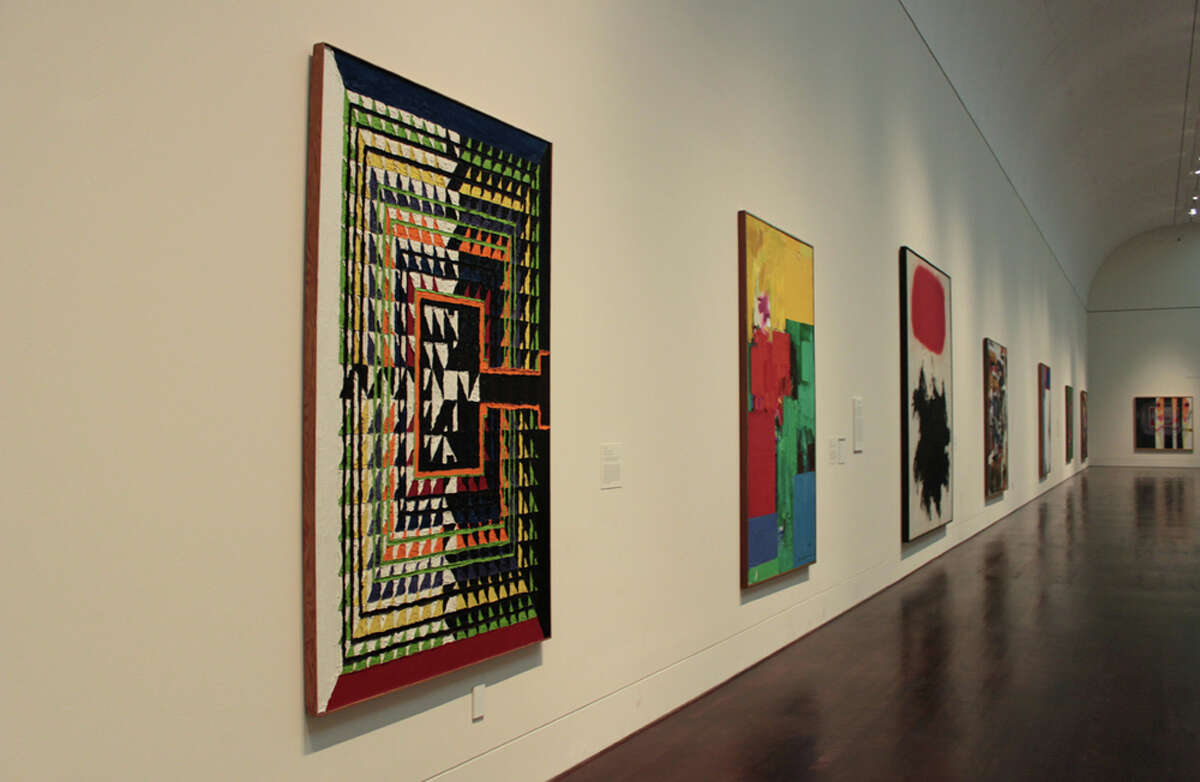 Paintings donated by novelist James Michener hang at the Blanton Museum of Art. KATHLEEN SCOTT / SPECIAL TO THE EXPRESS-NEWS