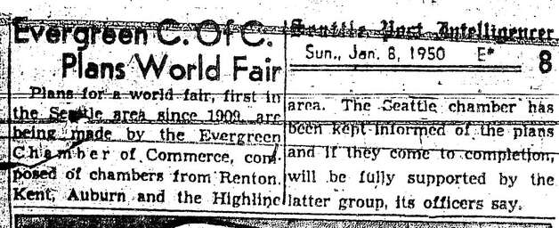 The first discussion of a World's Fair in Seattle came in early 1950.