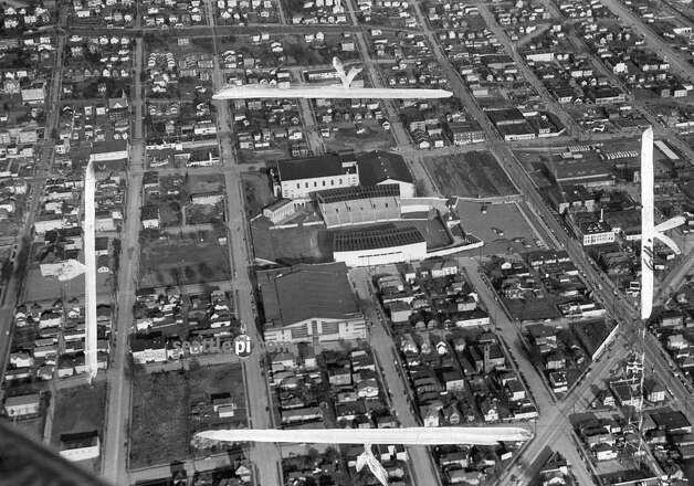 "City planners in 1950 called this section of the city a ""blighted area."" It's now Seattle Center, which was home to the 1962 World's fair. (seattlepi.com file)"