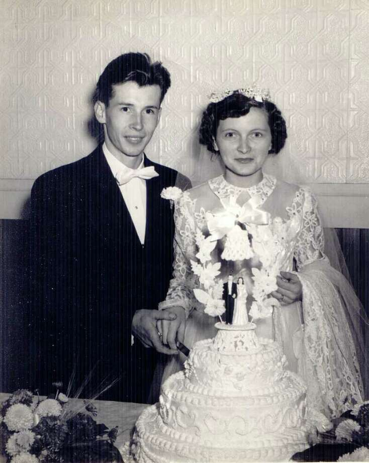 Joe and Eveline Dunbar were married Sept. 29, 1951. They have lived in New Fairfield since then, and have raised three sons there. Photo: Contributed Photo / The News-Times Contributed