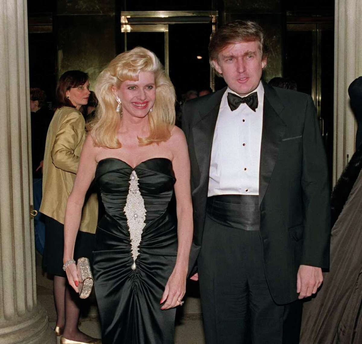 NEW YORK, NY - DECEMBER 4: Billionaire Donald Trump and his wife, Ivana, Dec. 4, 1989, at a social engagement in New York.