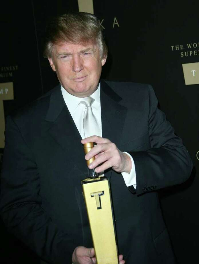 "Despite being an avowed teetotaller, Trump once sold his own vodka called, surprise, Trump Vodka. Trump Vodka billed itself as ""success distilled"" (results may vary drinking Trump's distilled success) and cost $33 a bottle. Despite Trump's boast that the ""Trump and Tonic"" would become America's cocktail of choice, the vodka never took off and was basically defunct by 2008.  Photo: Chad Buchanan, Getty Images / 2007 Getty Images"