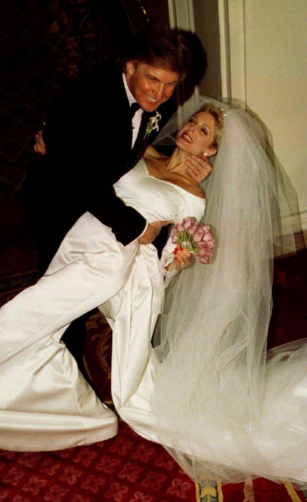 Donald Trump and Marla Maples marry, Dec. 21, 1993.