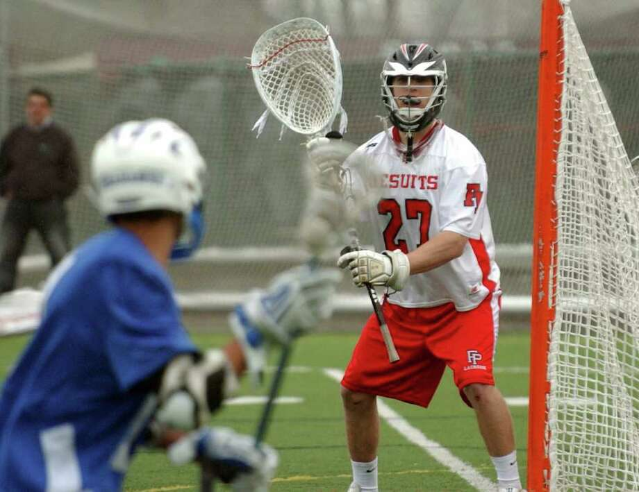 Highlights from boys lacrosse action between Fairfield Prep and Glastonbury in Fairfield, Conn. on Tuesday April 19, 2011. Photo: Christian Abraham / Connecticut Post