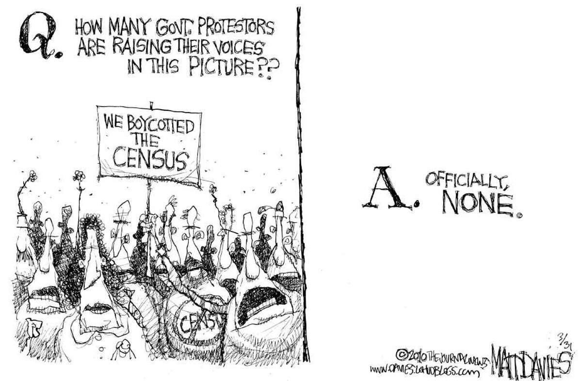 """Matt Davies of Wilton, who pens an editorial cartoon every Sunday for Hearst Connecticut Newspapers, was a finalist for a Pulitzer Prize in editorial cartooning in 2010, the prize board announced Tuesday. Davies won a Pulitzer in 2004. """"We're really lucky to have Matt's work in our papers,"""" said David McCumber, Hearst Connecticut editorial director. """"He lives in Connecticut and cares about local issues. He is a hard-hitting journalist, a great artist -- and wickedly funny."""" Here's Davies' 2010 Pulitzer portfolio."""
