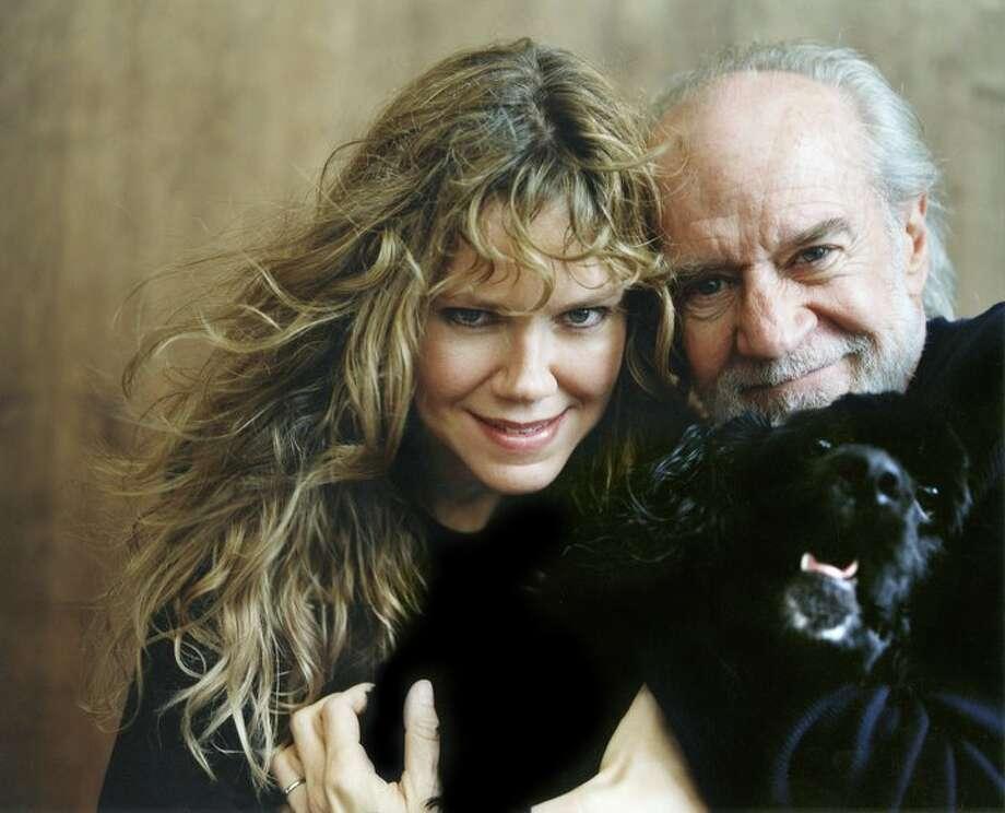 Sally Wade and George Carlin