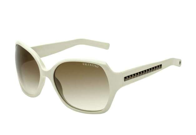 white sunglasses by valentino. credit: valentino Photo: ANDREA FAVARIN / DirectToArchive