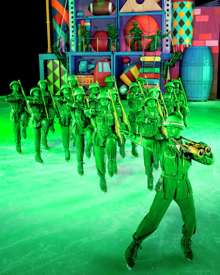 "The green army number is a favorite with ""Toy Story 3"" skater Adam Rogers. FELD ENTERTAINMENT"