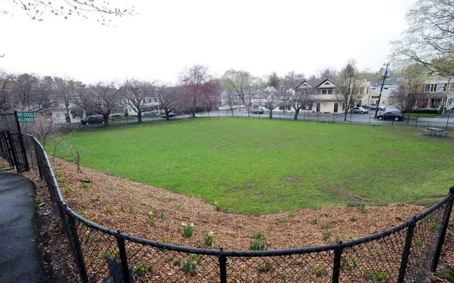 The field area at William Street Park, Greenwich, Tuesday afternoon, April 19, 2011. Photo: Bob Luckey / Greenwich Time