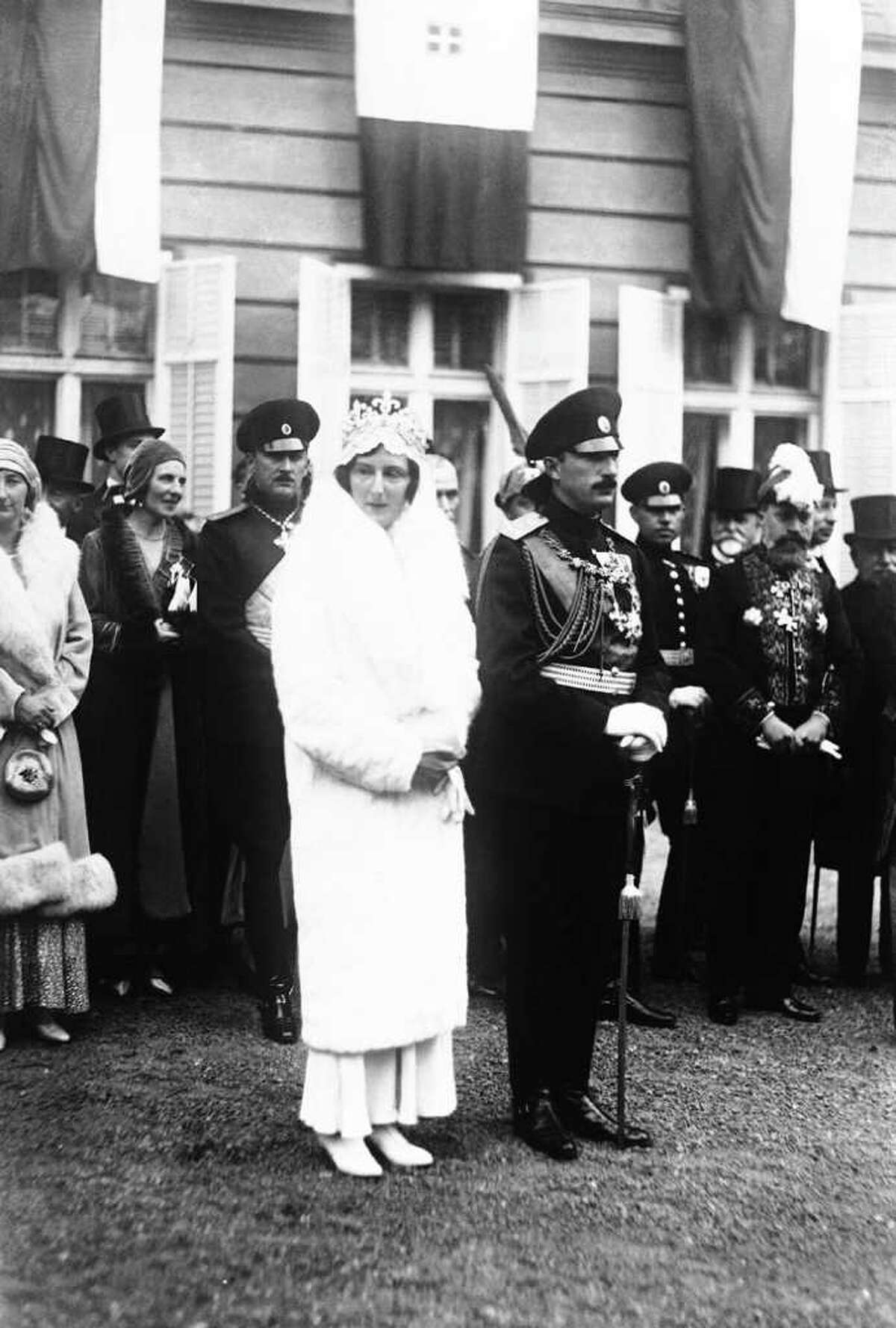 King Boris III of Bulgaria, known as the Unifier and Tsar of Bulgaria and Princess Giovanna of Italy after they had a second marriage ceremony at the Cathedral of St. Alexandre Nevski in Sofia, Bulgaria, around Nov. 4, 1930. L-R: Princess Eudoxie, Sister of Boris; Prince Kiril, brother of Boris; King Boris and his bride after the ceremony. (AP Photo)