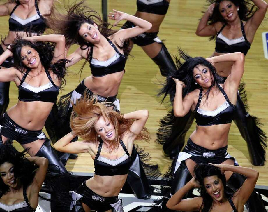 FOR SPORTS - The  San Antonio Spurs Silver Dancers perform  during Game 2 of the first round of the Western Conference playoffs against the Memphis Grizzlies at the AT&T Center Wednesday April 20, 2011. The Spurs won 93-87.(PHOTO BY EDWARD A. ORNELAS/eaornelas@express-news.net) Photo: EDWARD A. ORNELAS, SAN ANTONIO EXPRESS-NEWS / SAN ANTONIO EXPRESS-NEWS (NFS)