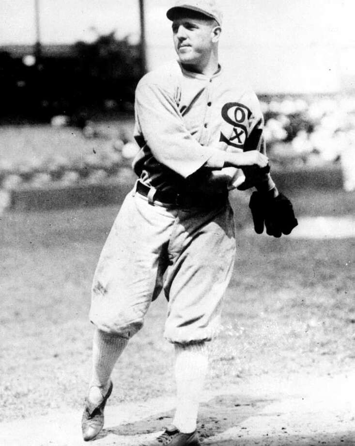 FILE - This undated file photo shows Chicago White Sox pitcher Eddie Cicotte, one of the key members from the infamous 1919 Black Sox scandal. Cicotte hinted in a copy of a 1920 court deposition on display at the Chicago History Museum that the Chicago White Sox got the idea to throw the 1919 World Series after the Chicago Cubs threw the 1918 World Series, a series the Cubs lost 4-2 to the Boston Red Sox. Cicotte is vague, failing to name any names of the players involved or provide any details about how the players might have done it or even if he believes the Cubs threw the series. But if what he suggests is true it means that when it came to fixing ball games in the early 20th century, Chicago was nobody's Second City. (AP Photo/File)