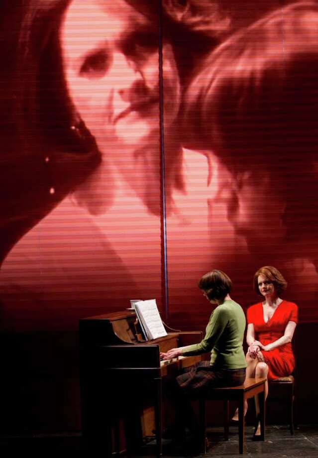 "Rebecca Henderson and Candy Buckley (left to right) play a tormented daughter and mother in the stage adaptation of the Ingmar Bergman film ""Autumn Sonata"" running through May 7 at Yale Repertory Theatre in New Haven. Photo: Contributed Photo / Connecticut Post Contributed"