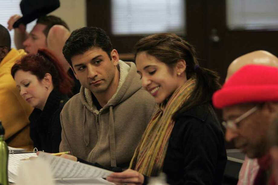 """Tony Yazbeck and Gabrielle Ruiz (center) in rehearsal for """"My One and Only"""" at the Goodspeed Opera House in East Haddam through June 25. Photo: Contributed Photo / Connecticut Post Contributed"""