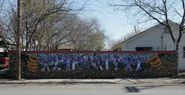 "A view of San Anto Cultural Arts ""Trinity Street"" mural near the corner of South Trinity and Santiago  on Tuesday, Jan. 6, 2009. Photo: JERRY LARA, SAN ANTONIO EXPRESS-NEWS / glara@express-news.net"