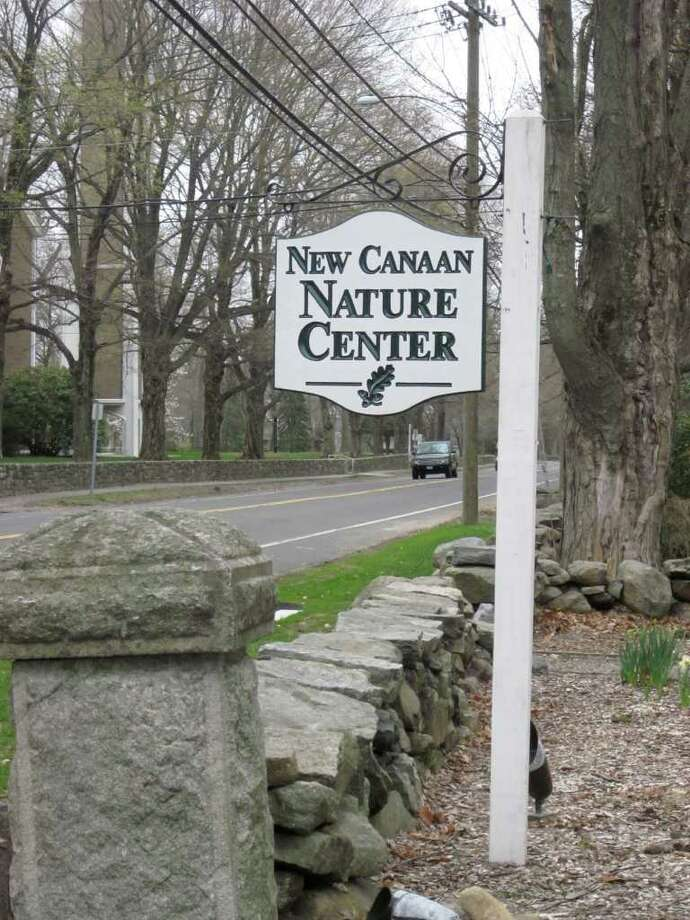 A view of the New Canaan Nature Center entrance on Oenoke Ridge Road. Despite last Saturday's rain, the center sponsored an Easter egg hunt that drew about 25 children and their parents. - Photo by John H. Palmer Photo: File Photo / New Canaan News