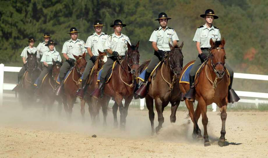 Members of Second Company Governor's Horse Guard give a performance in this file photo. Photo: File Photo / The News-Times File Photo