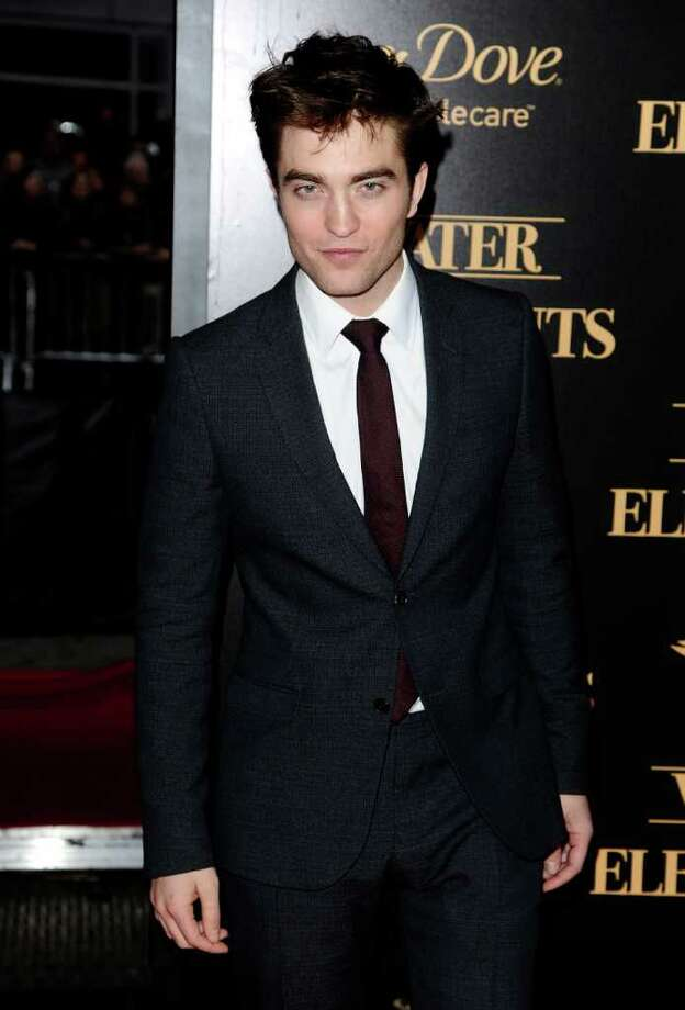 """Actor Robert Pattinson attends the premiere of """"Water For Elephants"""" at The Ziegfeld Theater, in New York, on Sunday, April 17, 2011. (AP Photo/Peter Kramer) Photo: Peter Kramer"""