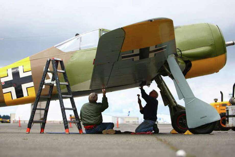After the helicopter pulled it out and the initial owner did some restoration, Flying Heritage Collection owner Paul Allen bought the plane in 1999. It flew for the first time since restoration in 2010 and then was disassembled and trucked from Arizona to the Everett. Photo: JOSHUA TRUJILLO / SEATTLEPI.COM