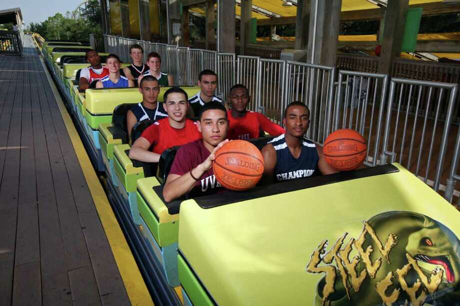 It was a thrill ride of a season for the Super Team (front row, from left): Jeremy Espinoza of Uvalde, Madison Turner of Boerne Champion; (second row) Dylan Elias of Taft, Deondre Logan of Taft; (third row) E-N Area Player of the Year Cole Martinez of Central Catholic, Tre Demps of Reagan; (fourth row) Matt Gramling of MacArthur, Max Yon of Reagan; (fifth row) Jonathan Holmes of Antonian, Clark Lammert of Churchill. EDWARD A. ORNELAS/eaornelas@express-news.net / SAN ANTONIO EXPRESS-NEWS (NFS)