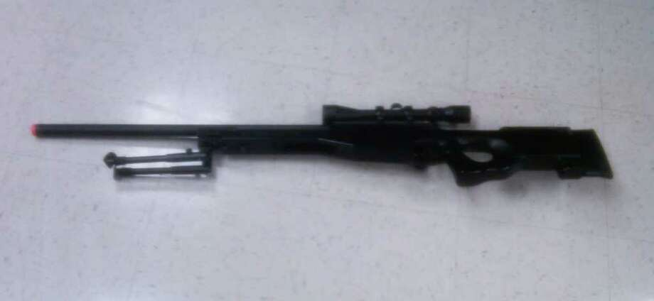 Pictured is the Airsoft rifle that a 16-year-old allegedly used Thursday afternoon to shoot a 12-year-old in the back as he was walking down Black Rock Turnpike with a friend. The weapon was fired from a second-story window of a residence. Photo: Contributed Photo / Fairfield Citizen contributed