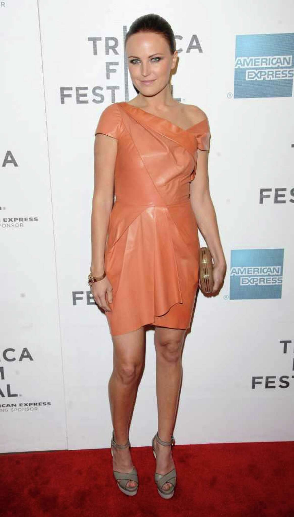 Actress Malin Akerman attends the premiere of