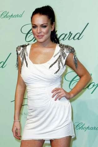 Lindsay Lohan arrives for the Chopard 150th anniversary party, during the 63rd international film festival, in Cannes, France, Monday, May 17, 2010. Photo: AP