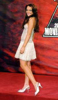 Host of the MTV Movie Awards Lindsay Lohan arrives on Saturday, June 5, 2004, in Culver City, Calif. The show will air on Thursday, June 10. Photo: CHRIS PIZZELLO, AP / AP