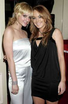 HOLLYWOOD - JANUARY 25:  Ashlee Simpson and Lindsay Lohan attend NBC's Access Hollywood Golden Globe Party, January 25, 2004 in Hollywood, California. Photo: Giulio Marcocchi, Getty Images / 2004 Getty Images