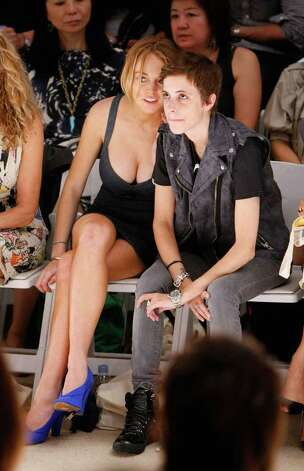 NEW YORK - SEPTEMBER 06:  Actress Lindsay Lohan and DJ Charlotte Ronson attends the Charlotte Ronson Spring 2009 fashion show during Mercedes-Benz Fashion Week at The Promenade in Bryant Park on September 6, 2008 in New York City. Photo: Brian Ach, Getty Images For IMG / 2008 Getty Images
