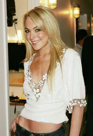 NEW YORK - JUNE 22: (U.S. TABS OUT)  Lindsay Lohan poses for a photo backstage during MTV's Total Request Live at the MTV Times Square Studios June 22, 2005 in New York City. Photo: Scott Gries, Getty Images / 2005 Getty Images
