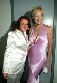 CULVER CITY, CA - JUNE 5:   (U.S. TABLOIDS OUT)   Actors Lindsay Lohan and Sharon Stone backstage at the 2004 MTV Movie Awards at the Sony Pictures Studios on June 5, 2004 in Culver City, California.  The 2004  MTV Movie Awards will air on the MTV Network June 10, 2004 9 PM (ET/PT). Photo: Frank Micelotta, Getty Images / 2004 Getty Images