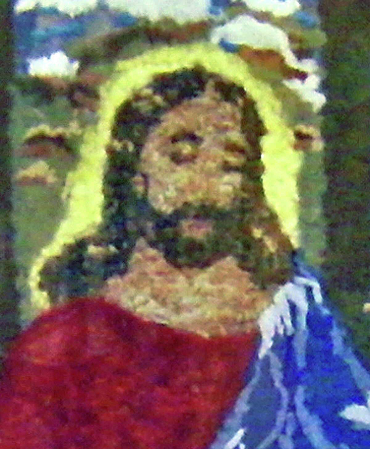 Another interpretation: In this photo provided by Ripley's Believe It or Not shows Jesus on a replica of Leonardo da Vinci's mural,