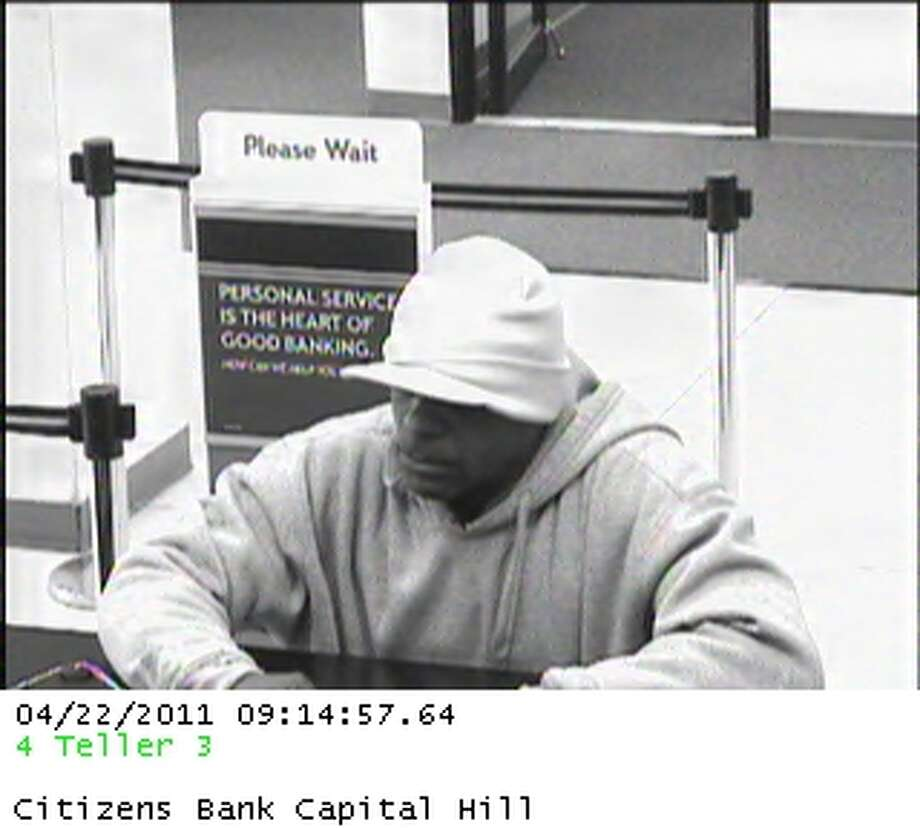 Police are searching for a man they said robbed the Citizen?s Bank branch at 111 Washington Ave., Albany at 9:15 a.m. Friday, April 22, 2011. (Albany Police Department)